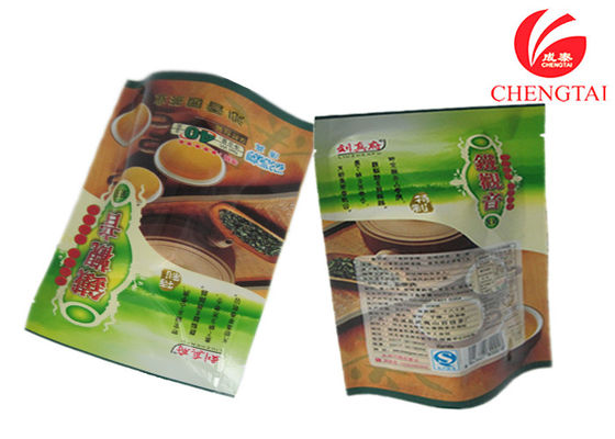 China Coffee / Tea Use Colorful Printing Stand Up Barrier Pouches , Free Standing Punch Bag supplier