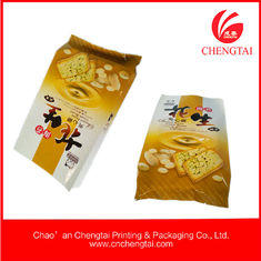 China 80micron Food Grade Gusseted Plastic Bags for biscuit packaging supplier