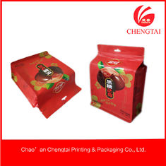 China UV Printing Block Bottom Bags With Clear Window For Noshes Food supplier