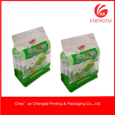 China Laminated Material Flat Bottom Pouches Tea Ziplock Pouches Eco - Friendly supplier