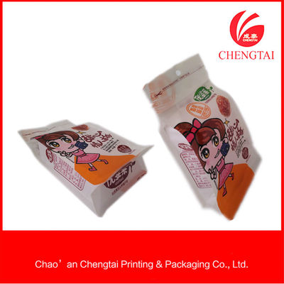 China Zippered Flat Bottom Pouches Eco - Friendly Flat Bottom Coffee Bags With Clear Window supplier