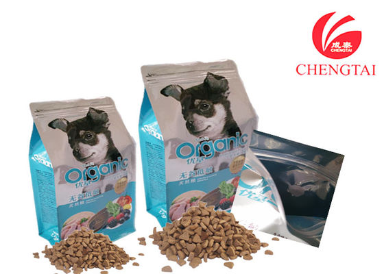 China Square Bottom Cat Dog Food Packaging Zipper Bag , 37x 20+10cm supplier