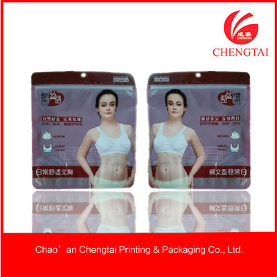 China Women Clothes Use Zippered Packaging Bags With Eco-Friendly Feature supplier