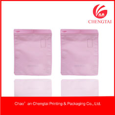 China Transparent Zippered Clothing Packaging Bags With Superior Printing supplier