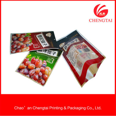 China Customised Size Three Side Seal Bag , Stand Up Resealable Pouches supplier