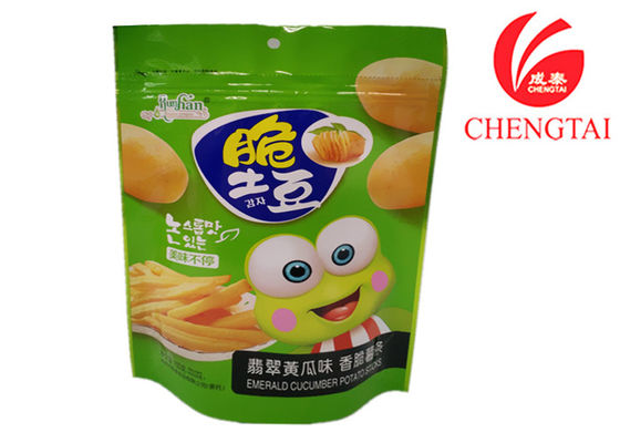 China Colorful Reusable Barrier type Stand Up Zip Lock Pouches for Chips Packaging supplier