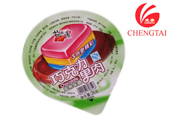 China Costum Printed Cup Sealing Film For Jelly Pakaging In Retail Shop supplier