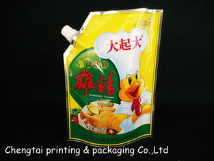 China Spice Packaging Stand Up Pouch With Spout / Plastic Doypack Pouch Spouted Pouches supplier