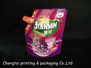 China Plastic Customized Stand Foil Spout Pouch With Cap For Packing Juice supplier