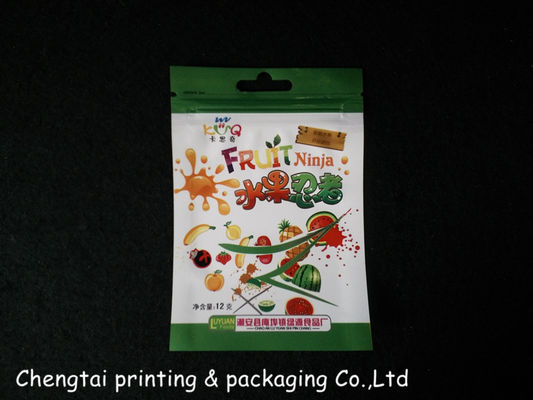 China Eco Food Grade Small Sealed Packaging Bags With Aircraft Hole supplier