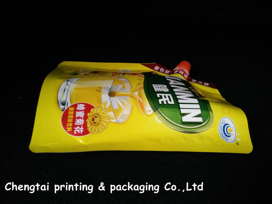 China Non leakage Laminating Stand Up Pouch With Spout for Juice packing supplier