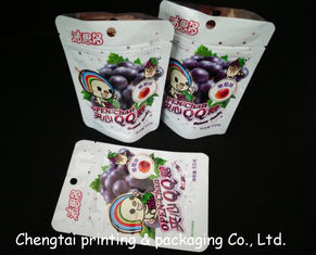 China Plastic Snack Food Packaging Bags With Zipper 15.5 * 10.5 + 3.5cm Air Proof supplier