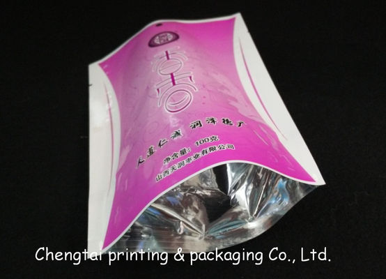 China Half Aluminum Heat Sealing Dried Fruit Bags With Clear Window Food Grade Bag supplier