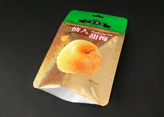 China Moisture Proof Conspicuous Dried Fruit Bags With Tear Notch Gravure Printing supplier