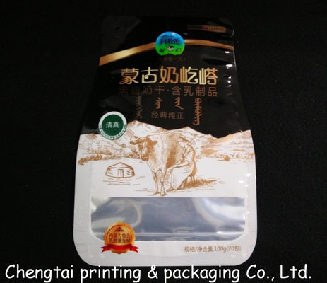 China Glossy Surface Stand Up Pouches No Zipper Food Grade Shaped Pouch With Euro Hole supplier