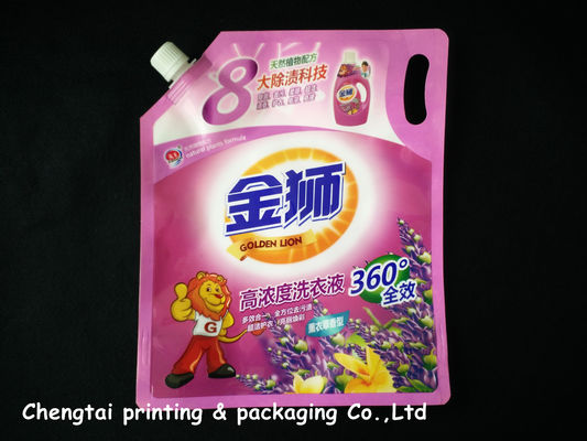 China Detergent Packaging Stand Up Pouch With Spout Customized Liquid Packaging Pouch supplier