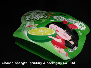 China Colorful Small Shaped Packaging Pouches Safety For Fruit Candy / Cookies supplier