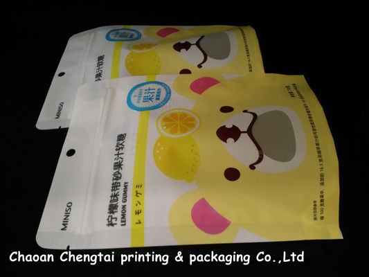 China Food Grade Stand Up Zipper Pouch / Packaging Bags Portable Gravure Printing supplier