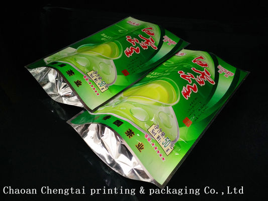 China Coffee Customized Stand Up Pouches / Heat Sealable Tea Packaging Bags 50G supplier