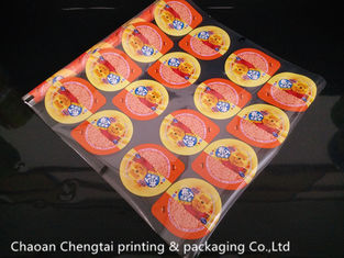 China Eco - Friendly Peelable Plastic Cup Sealer Film For Cold Drinks / Soy Milk Cup supplier