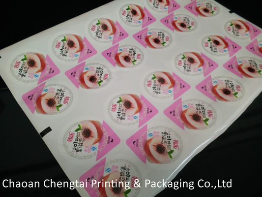 China Laminated Printing Cup Sealing Film Three Layers For Jelly / Juice / Yogurt supplier