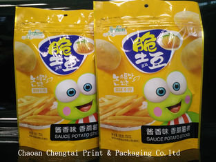 China Food Grade Snack Packaging Bags with Ziplock for Tomato Chips supplier