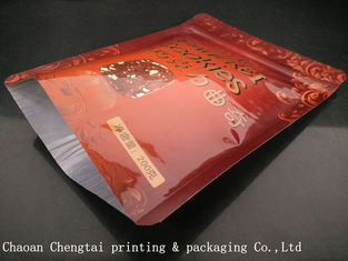 China Zipper Three Side Seal Pouch / Aluminum Packaging Bag For Snack Food supplier