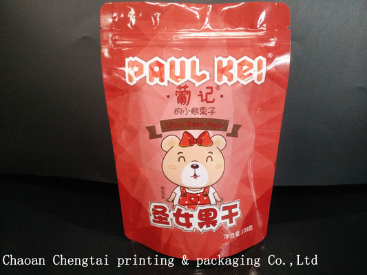 China Custom 108G  Dried Fruit Foil Bags /  Bopp laminated Pouches with Zipper supplier