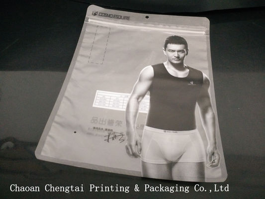 China Reusable Garment Clothing Packaging Bags With Clear Window / BOPP Lamination supplier