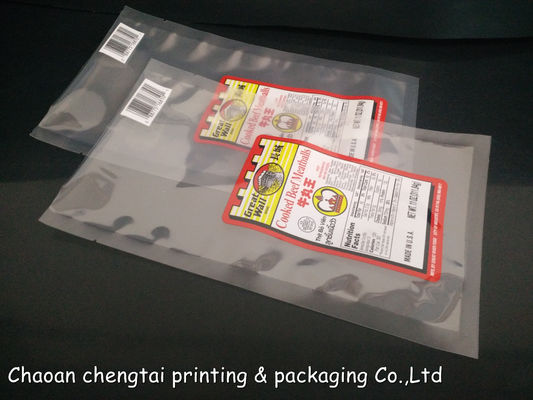 China Strong High Temperature Retortable Pouches For 11 Oz Cooked Beef Meatballs supplier