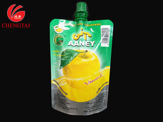 China 200ml Stand Up Pouch With Spout / Aluminum Foil Pouch for Juice supplier