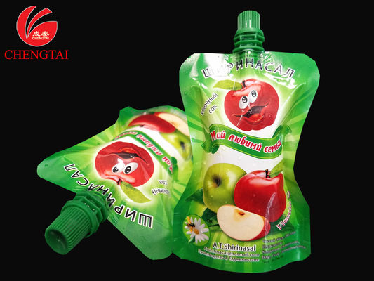 China Food Grade Stand Up Pouch With Spout / Reusable Liquid Packaging Bag supplier