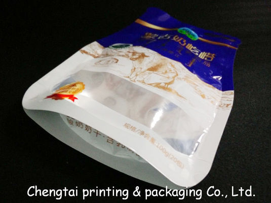 China Eco - Friendly BOPP Compound Shaped Pouches With Transparent Window Gravure Printing supplier