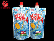 China Custom 250ML Stand Up Spout Pouches / Doypack Packaging for Ice Tea company