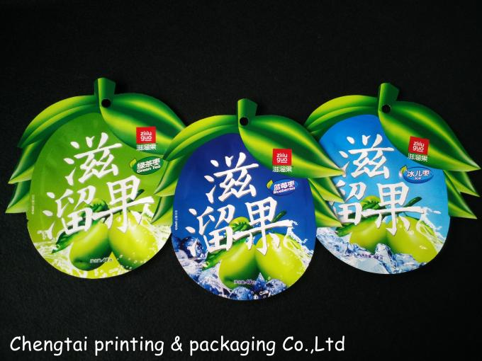 Small Food Packaging Reusable Snack Pouches Environment Friendly