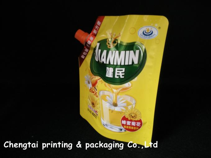 Non leakage Laminating Stand Up Pouch With Spout for Juice packing