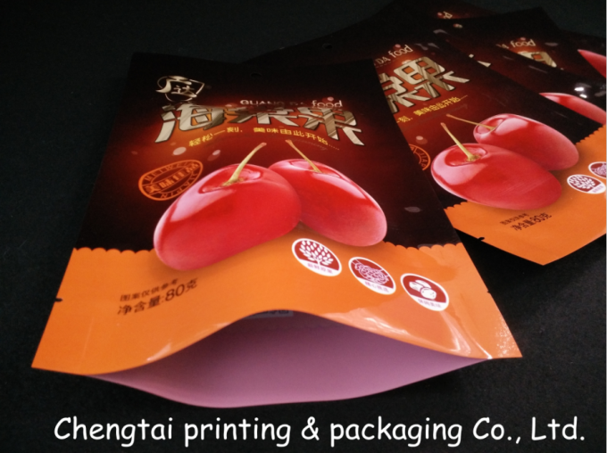 80g Dry Fruit / Dried Fruit Bags For Food Packaging Water Resistant Easy Opening