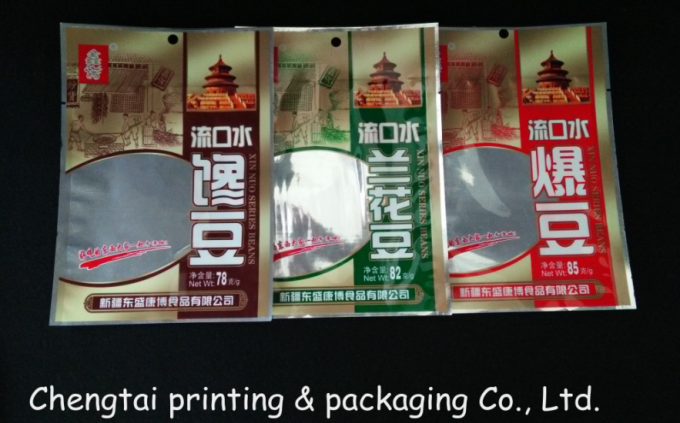 Eco - Friendly 85g Snack Plastic Packaging Pouch With Transparent Window