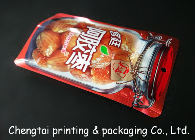 Three Side Seal Small Snack Plastic Bags / Packaging Pouches 10.5 * 17 CM