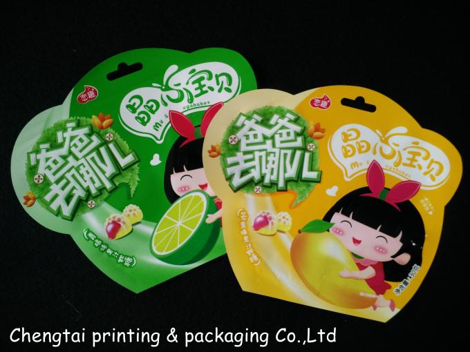 Children Food Packaging Shaped Pouches With Metallic Inside QS Certification
