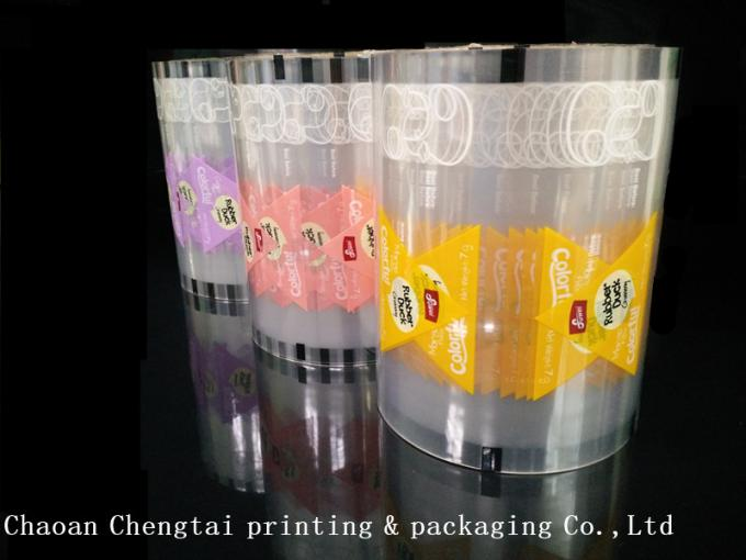 Plastic RollStock Film Gummy Candy Packaging Triangle Pouch Plastic Packaging Film
