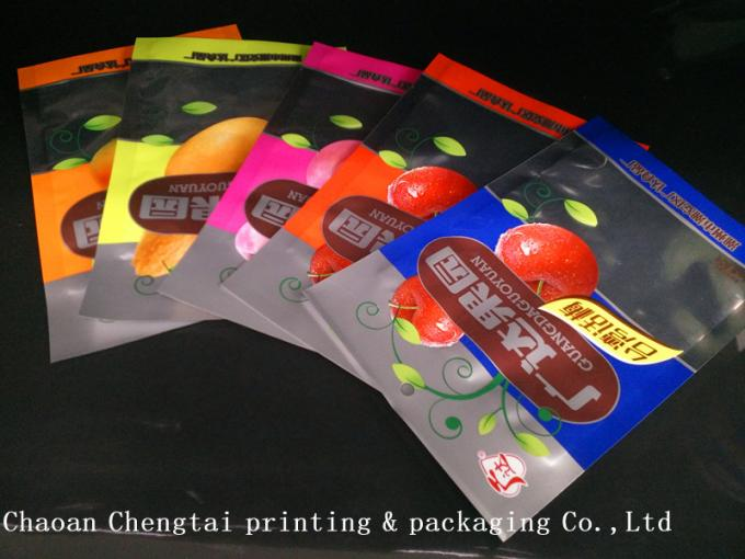 Dried Fruit Plastic Packaging Bags / Banana Chips Laminated Pouches QS Approval