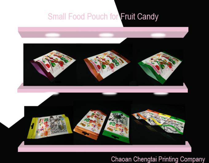 Printed Pillow Packs Packaging / Cookie Packaging Pouch Matte Surface Finish