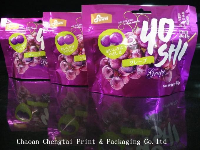 Dried Food Stand Up Pouches Gravure Printing Surface Handling