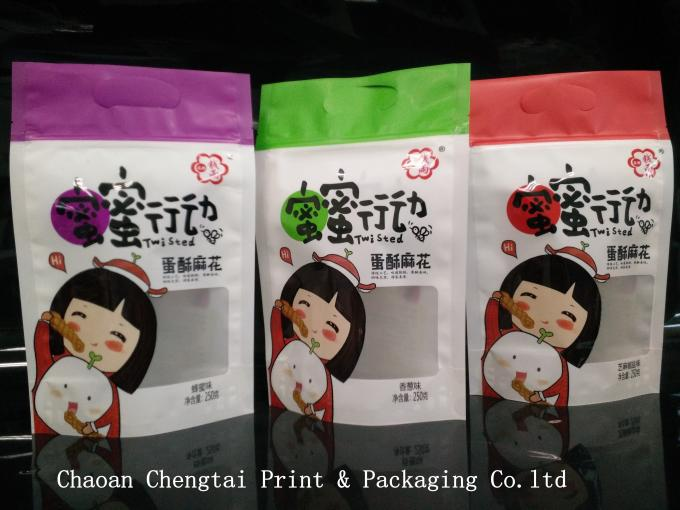 Transparent Dried Fruit Packaging Bags / Stand Up Pouch Easy Carry