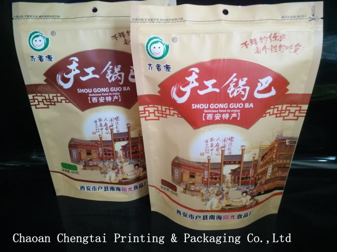 0 - 9 Colors Printing Snack Packaging Bags With Zipper / Transparent Window