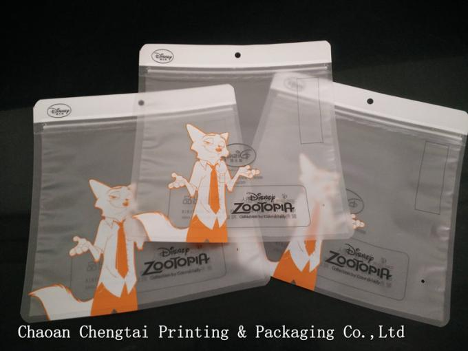 Logo Printing Clothing Packing Bags Packaging Pouch With Matt Bopp / Cpp Material