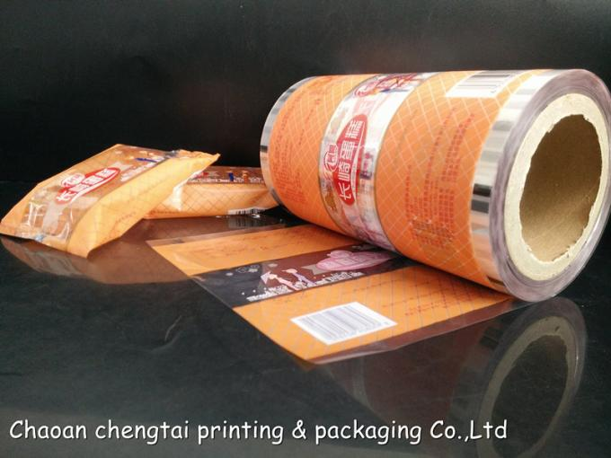 Bread Packing Plastic Roll Stock Films With Matt Surface / Clear Window