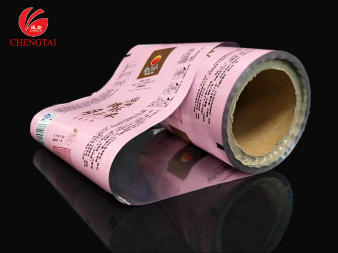 Laminated Food Packaging Pouches / Plastic Film for Auto Packaging Machine