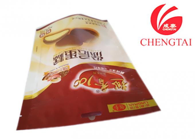 Red Color Heat Sealable Stand Up Pouches for Cracker Food Packaging